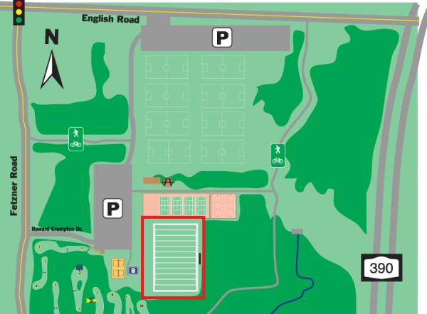 Rochester Kickball Field Map