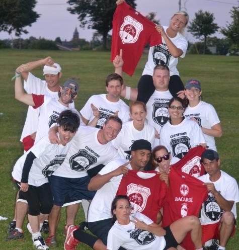 Summer 2013 Recreational Kickball Champions 'A Good Mix'